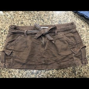 Abercrombie & Fitch Brown Mini Skirt - Sz 10